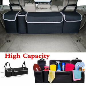 High Capacity Multi Use Car Trunk Back Seat Organizers Bag Interior Accessories