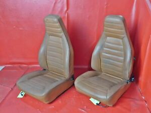 1974 1984 Porsche 911 Cork Leather Front Seat Set