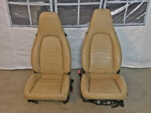 92 98 Porsche 911 993 968 Tan Leather Front Seat Set See Description For Fit