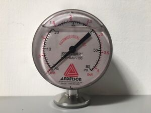 Anderson Pharmaceutical Series Pressure Gauge 0 60 Psi