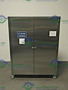 Mobile Stainless Steel Storage Cabinet On Casters 60 X 18 X 80