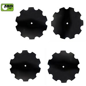 18 X 3mm Notched Disc Harrow Blade Center Hole 1 Square Or 1 1 8 Square