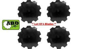 26 X 6mm Notched Disc Harrow Blade Center Hole 1 1 2 Square Or 1 5 8 Round