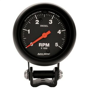 Autometer 2888 Z Series Electric Tachometer Black 0 5000 Rpm 2 5 8
