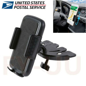 1x Universal 360 Adjustable Car Cd Slot Cell Phone Mount Stand Holder Usa Stock