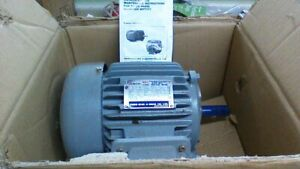 nib teco Tefc 1 Hp 3ph Electric Motor 208 230 460v 143t 1745 S f 1 15