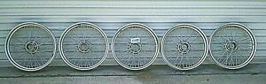 Used Oem 1945 1949 Mg Tc Set Of 5 19 Wire Wheels W 48 Spokes H188
