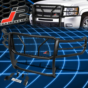J2 Engineering For 07 10 Silverado 2500hd 3500hd Front Bumper Grille Brush Guard