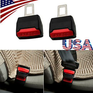 2pcs Car Seat Belt Plug Buckle Safety Clip Extender Alarm Canceller Press