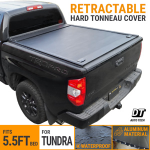 Retractable Roll Up Hard Tonneau Cover For 2007 2018 Tundra 5 5ft Truck Bed