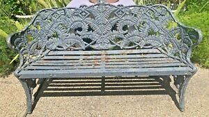 Cast Iron Bench Fern And Blackberry Pattern Copyrighted In England 1855