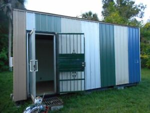 Newly Remodelled Secure Mobile Office Trailer Hurricane Shelter Tiny Home 7 x19