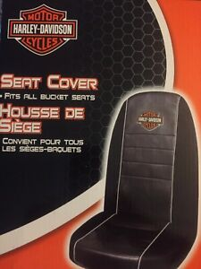 New 2 Pc Set Harley Davidson Front Bucket Seat Covers Discontinued