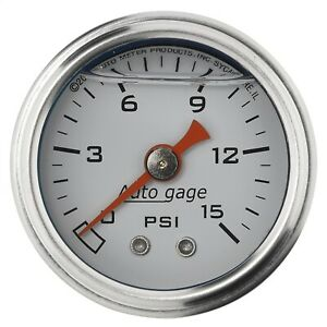 Autometer 2175 Sport comp Mechanical Gauge For Fuel Pressure W Black Dial Face