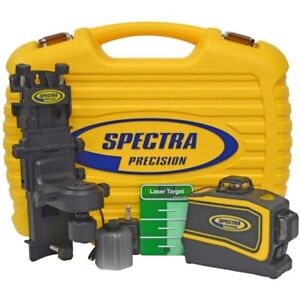 Spectra Laser Lt58g Green Beam Self Leveling 3 plain Cross Line Laser Level