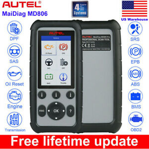 Autel Md806 Obd2 Auto Diagnostic Tool Dpf Srs Abs Better Md805 Md802 All Systems
