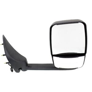 Power Towing Mirror For 02 14 Ford E 350 Super Duty Left Manual Fold Long Arm