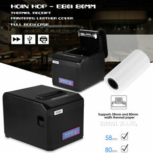80mm Pos Thermal Printer Receipt Ticket Machine Usb Auto Cutter For Pos Hot Usb