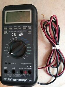 Bk Precision 390 Test Bench Multimeter With Protective Rubberized Case