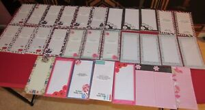 Lot Of 30 Note Pads Magnetic Back Books All New Sealed