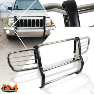 For 06 10 Jeep Commander Xk Suv S S Bumper Brush Grille Guard Protector Chrome