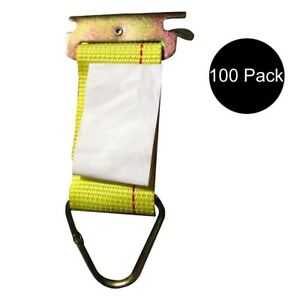 100 Pk E Track Fitting Rope Tie Off Enclosed Trailer Cargo Tie Down Strap