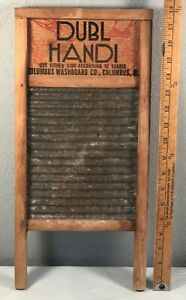 Vtg Dubl Handi Small Travel Washboard For Silks Hosiery Lingerie Columbus Ohio