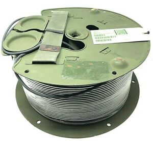 Fiber Optic Cable Connector Wire Spool Communication Military Rfo 300 Extension