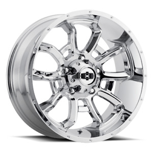 4 Vision 415 Bomb 20x9 5x5 5 12mm Chrome Wheels Rims 20 Inch