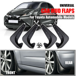 4pcs Mud Flaps Splash Guards Mudgurads For Toyota Corolla Iq Prius Camry Rav4