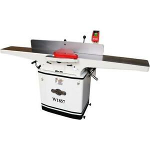 Shop Fox W1857 8 Inch 3 Hp 230 Volt Dovetail Jointer Planer With Mobile Base