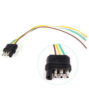 New Trailer Light Wiring Harness Extension 4pins Plug Wire Connector Socket Sku
