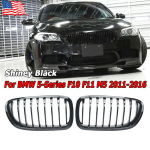 For Bmw F10 f11 f18 5 series 2010 2016 528i 535i Front Kidney Gloss Black Grille