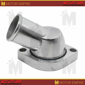 Fits Chevy Ls 45 Degree Swivel Water Neck Polished Aluminum Finish