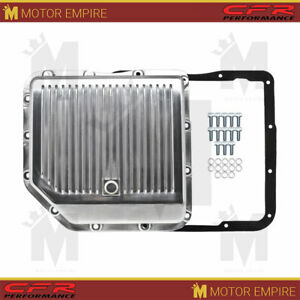 Fits Chevy Gm Turbo 350 Th350 Aluminum Transmission Pan Kit Deep Finned Polished