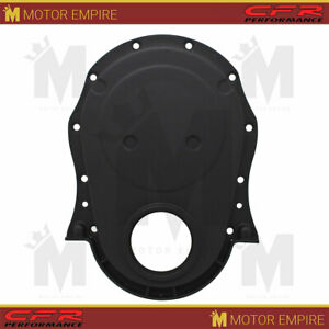 For 1966 90 Chevy Big Block 396 402 427 454 Timing Chain Cover Black Aluminum
