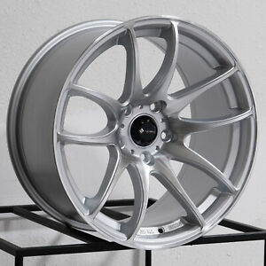 17x9 Vors Tr4 5x114 3 30 Silver Machined Wheels Rims Set 4