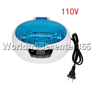 600ml Ultrasonic Cleaner Bath Timer For Jewelry Glasses Manicure Dental Parts