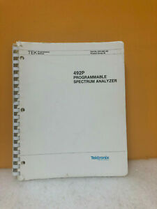 Tektronix 070 3401 00 492p Programmable Spectrum Analyzer Programmers Manual