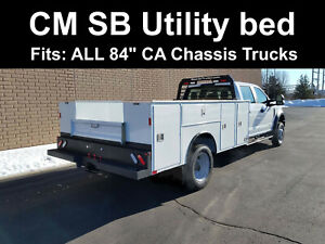 84 Ca Chassis Truck Utility Body Cm Service Body Bed 8 Tool Boxes Cmg13394wff