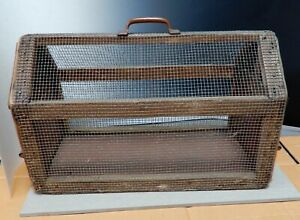 Antique Early 20th C Animal Transport Cage