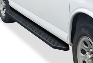 Iboard Black Running Boards Style Fit 03 21 Chevy Express Gmc Savana
