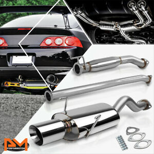 For 02 06 Acura Rsx Dc5 Type s K20 4 Rolled Tip Muffler Catback Exhaust System