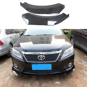 Universal Adjustable Angle 3pcs Front Bumper Lip Splitter Spoiler For Most Car