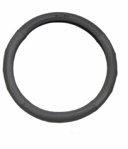 1pcs Suede Leather Silicone Inner Ring Car Steering Wheel Cover 7454 Gray _40cm