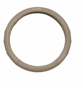 1pcs Suede Leather Silicone Inner Ring Car Steering Wheel Cover 7454 Beige 40cm