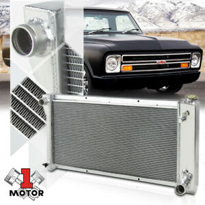 Aluminum 3 Row Performance Radiator For 67 72 Chevy Gmc C K Pickup Suburban Van