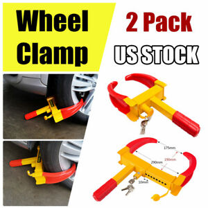 Anti theft Wheel Lock Clamp Boot Tire Locker Claw Trailer Auto Car Truck Towing