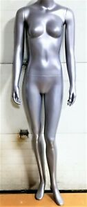 5 Ft 6 In Headless Female Mannequin Magnetic Arms New Grey Modern Classic