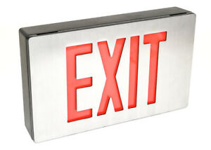 Isolite Lpdcnbdrbkbac Lpdc Series Led Exit Sign 2 sided 1 pkg 120 277v 2 5w